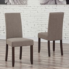 Simpli Home Acadian Parson Dining Chair 2 pc Set