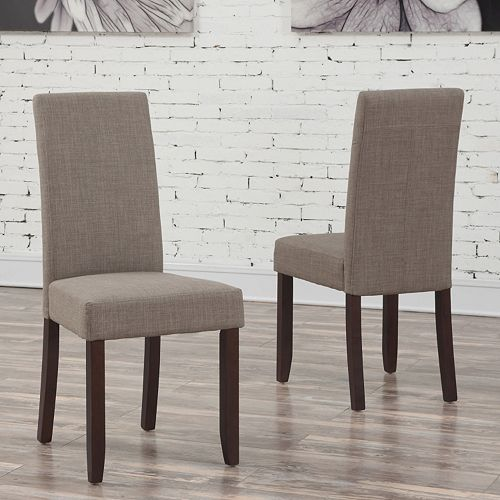 Simpli Home Acadian Parson Dining Chair 2-piece Set