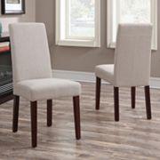 Simpli Home Acadian Parson Dining Chair 2 pc Set