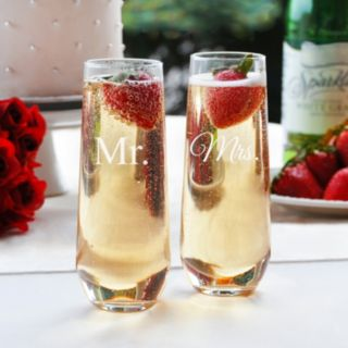 Cathy's Concepts Couples 2-pc. Stemless Champagne Glass Set