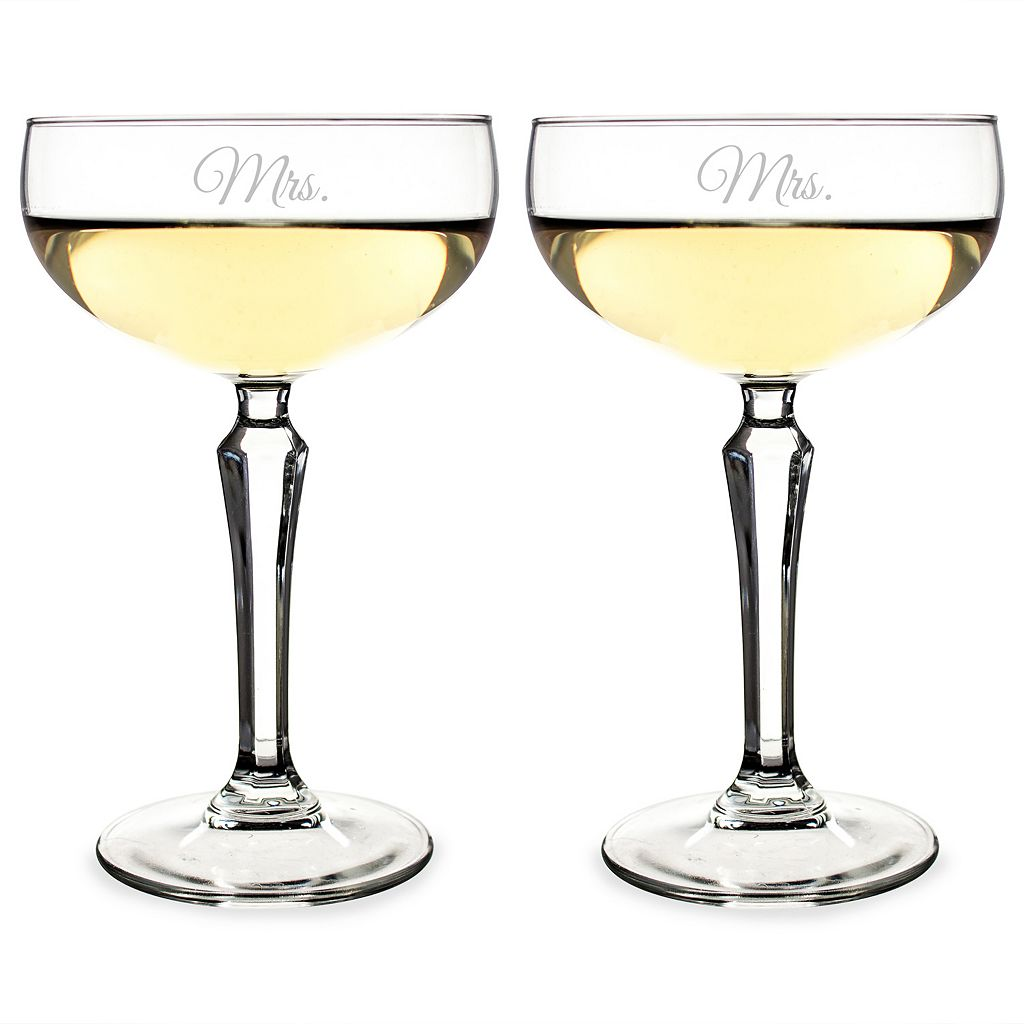 Cathy's Concepts Couples 2-pc. Coupe Champagne Glass Set