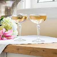 Cathy's Concepts Couples 2 pc Coupe Champagne Glass Set