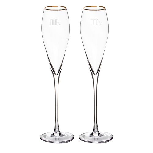 Cathy's Concepts 2-pc. Couples Gatsby Champagne Flute Set