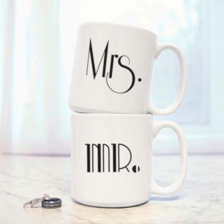 Cathy's Concepts 2-pc. Couples Gatsby Coffee Mug Set