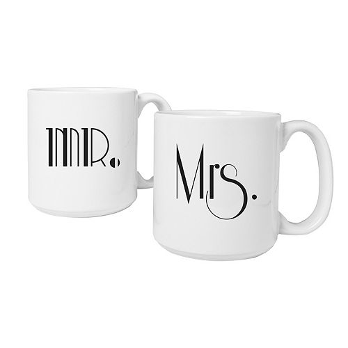 Cathy's Concepts 2-pc. Couples Gatsby Coffee Mug Set