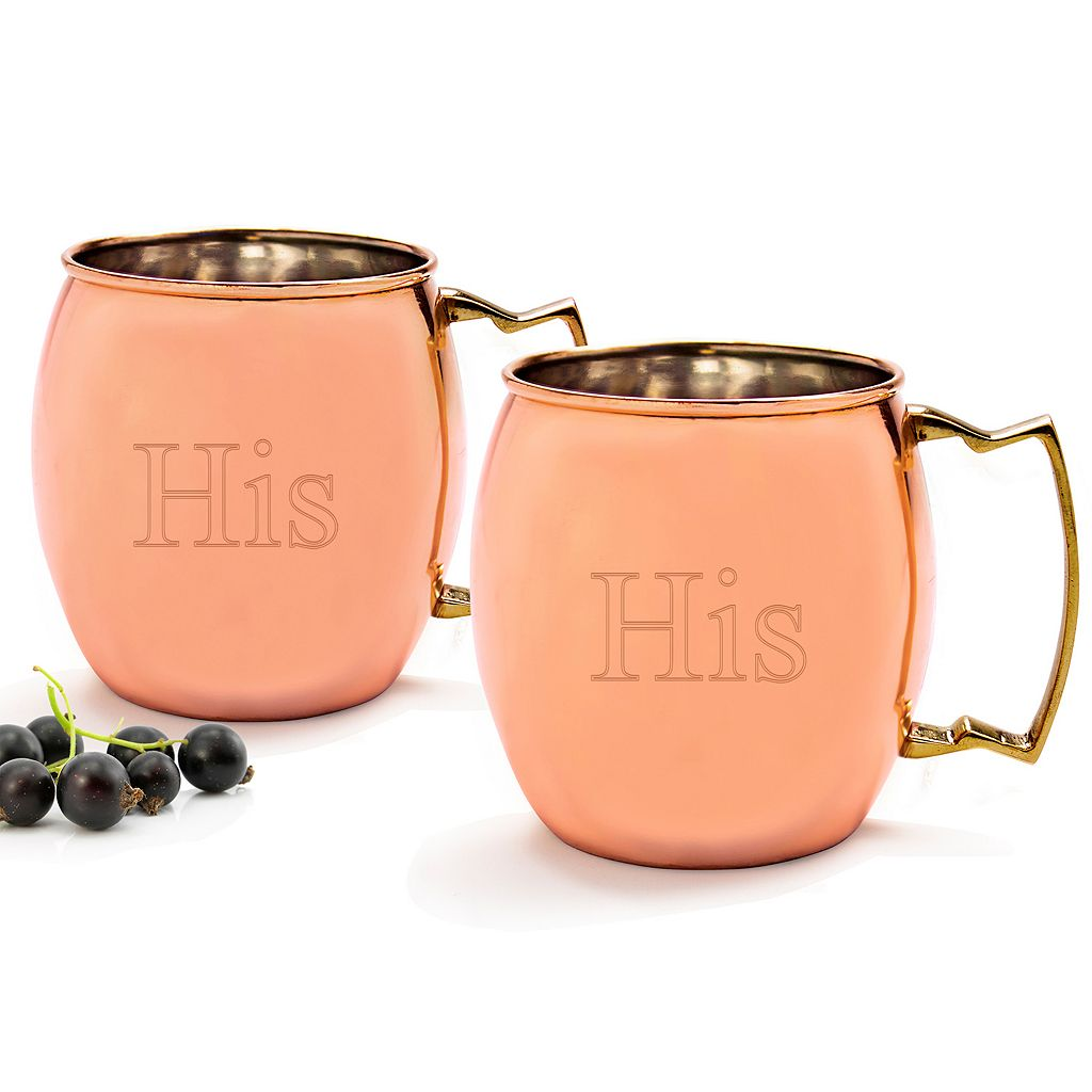 Cathy's Concepts Couples 2-pc. Copper Moscow Mule Mug Set
