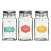 Global Amici Rise & Shine 3-pc. Hermetic Glass Storage Jar Set