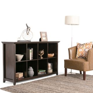 Simpli Home Amherst 8-Cube Storage Sofa Table