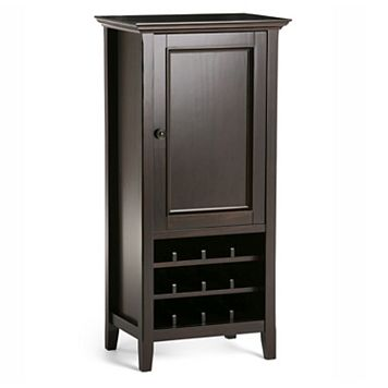 Simpli Home Amherst Wine Cabinet