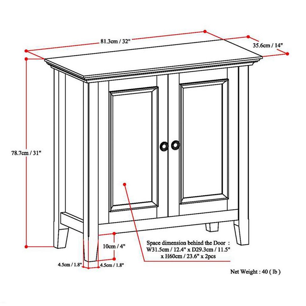 Simpli Home Amherst Low Storage Cabinet