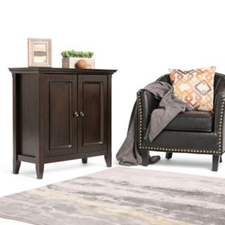 Simpli Home Amherst Low Storage Cabinet