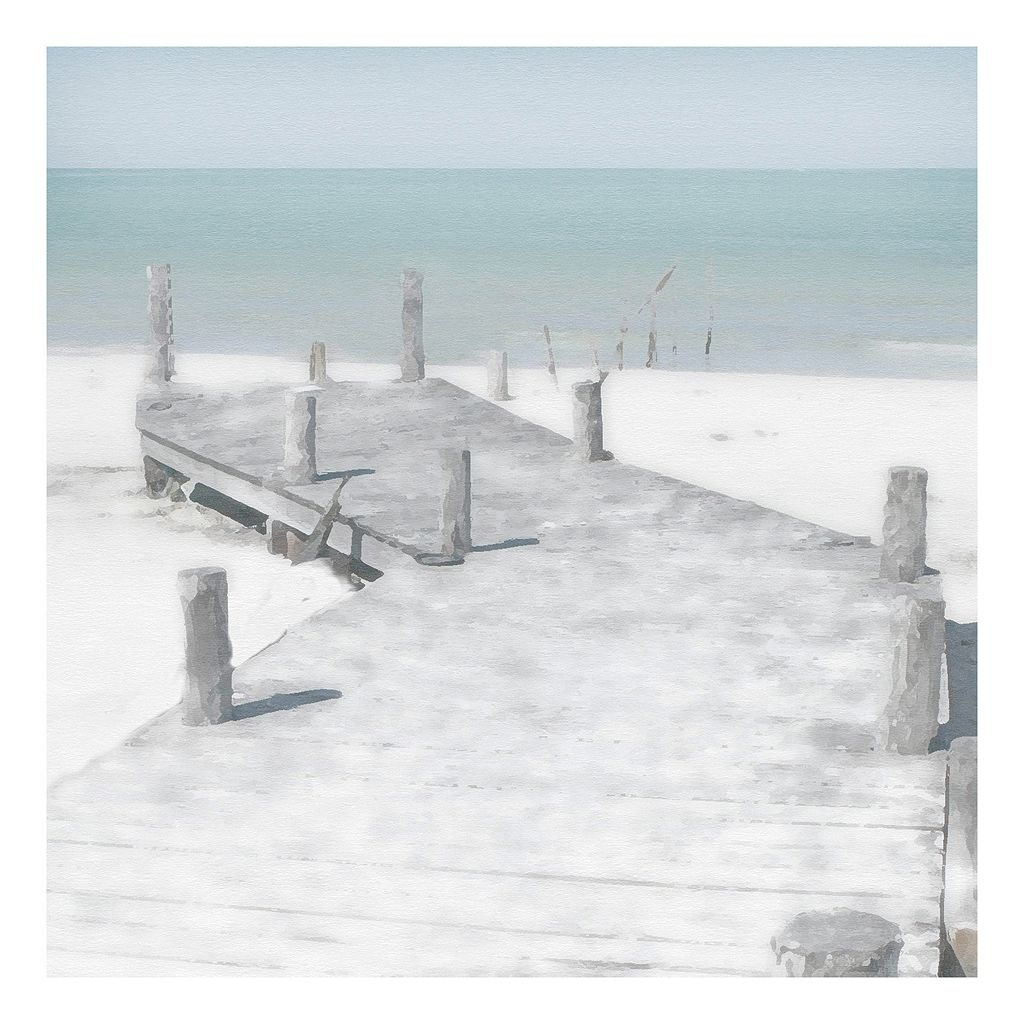 Old Jetty Canvas Wall Art