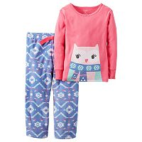Toddler Girl Carter's Owl Tee & Fleece Pants Pajama Set