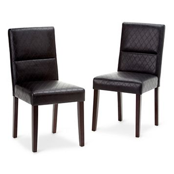 Simpli Home Ashford Parson Dining Chair 2-piece Set