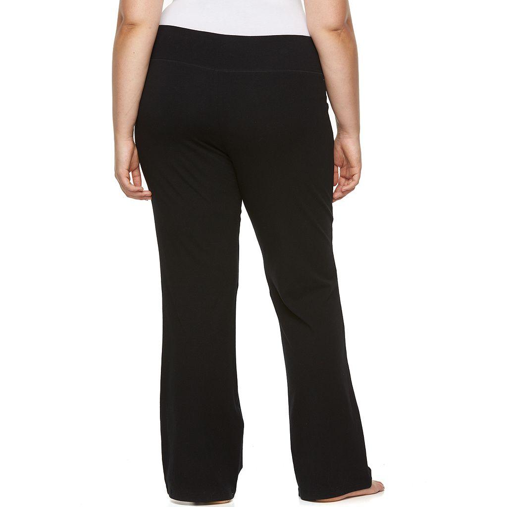 Juniors' Plus Size SO® Lounge Contour Bootcut Yoga Pants