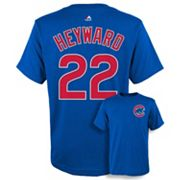 Boys 8-20 Majestic Chicago Cubs Jason Heyward Player Name and Number Tee