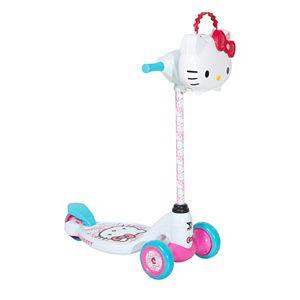 Girls Hello Kitty Light-Up 3-Wheel Scooter