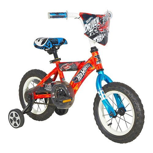 Boys Hot Wheels 12-Inch Wheel Turbospoke Bike with Training Wheels