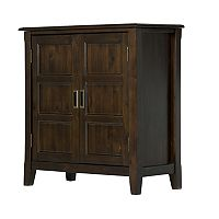 Simpli Home Burlington Low Storage Cabinet
