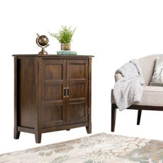 Simpli Home Burlington Low Storage Cabinet