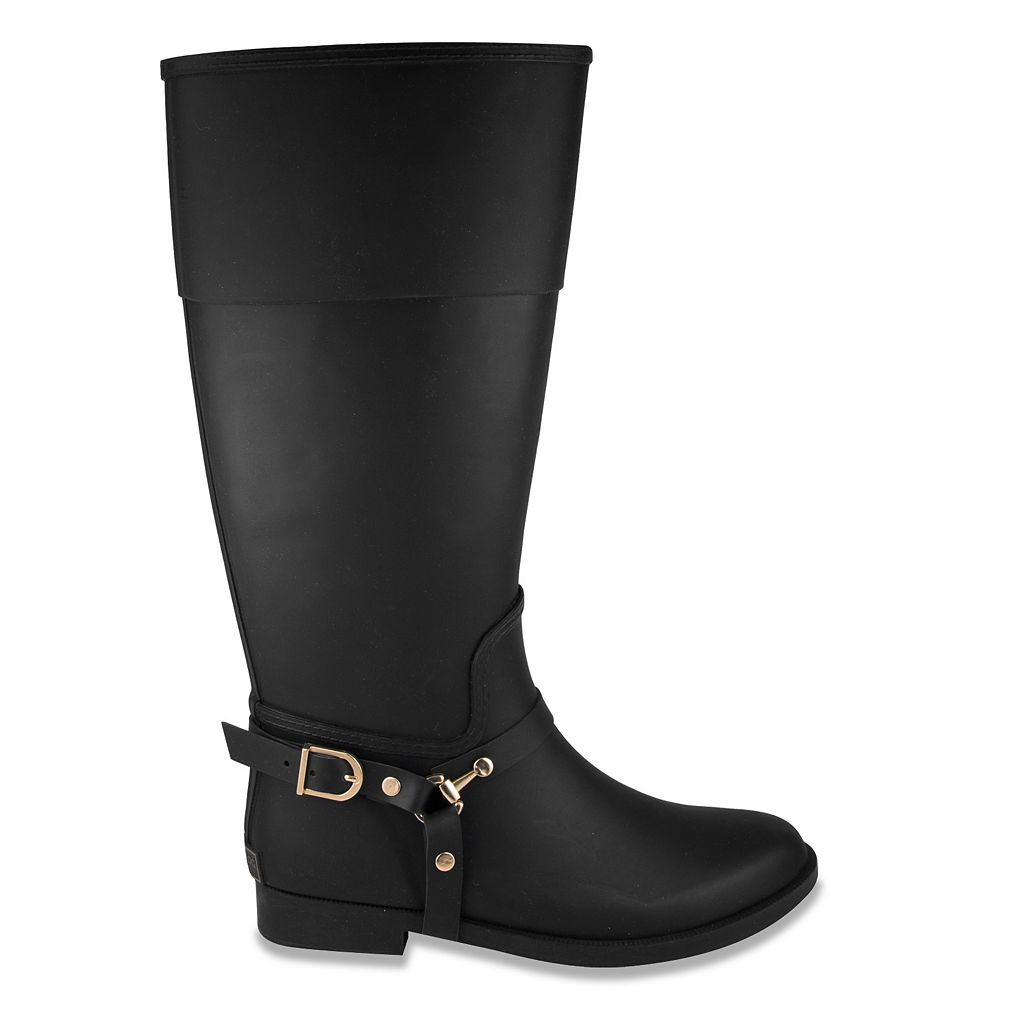 London Fog Rider Women's Waterproof Rain Boots