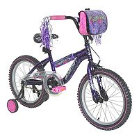 Girls Dynacraft 18-Inch Wheel Mysterious Bike with Training Wheels