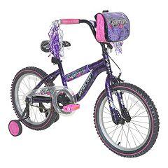 Girls Dynacraft 18-Inch Wheel Mysterious Bike with Training Wheels