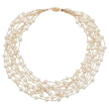 Freshwater Cultured Pearl Multi Strand Necklace