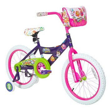 Girls Shopkins 18-Inch Wheel Bike with Training Wheels