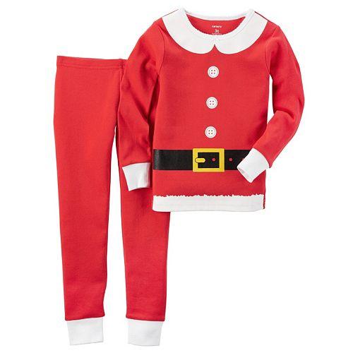 Toddler Girl Carter s Santa-Suit Top   Pants Pajama Set 5534270a1