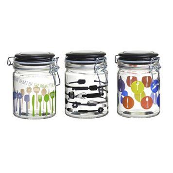 Global Amici Kitchenware Home 3-pc. Hermetic Glass Storage Jar Set
