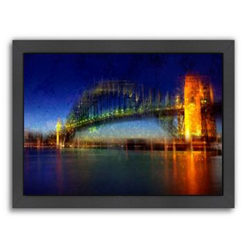Americanflat City Art Sydney Framed Wall Art