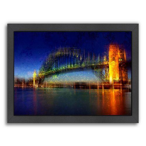 Americanflat City Art Sydney Framed Wall Art