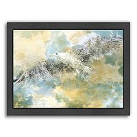 Americanflat Digital Art Vanishing Seagull Framed Wall Art