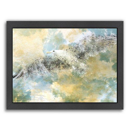 Americanflat Digital Art Vanishing Seagull Framed Wall Art