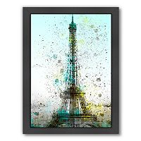 Americanflat City Art Paris Eiffel Tower Framed Wall Art