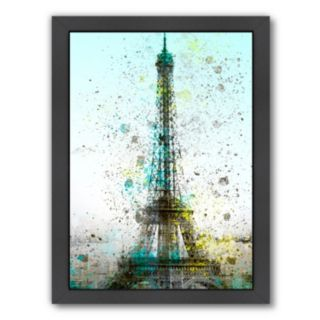 Americanflat City Art Paris Eiffel Tower Framed Wall Art