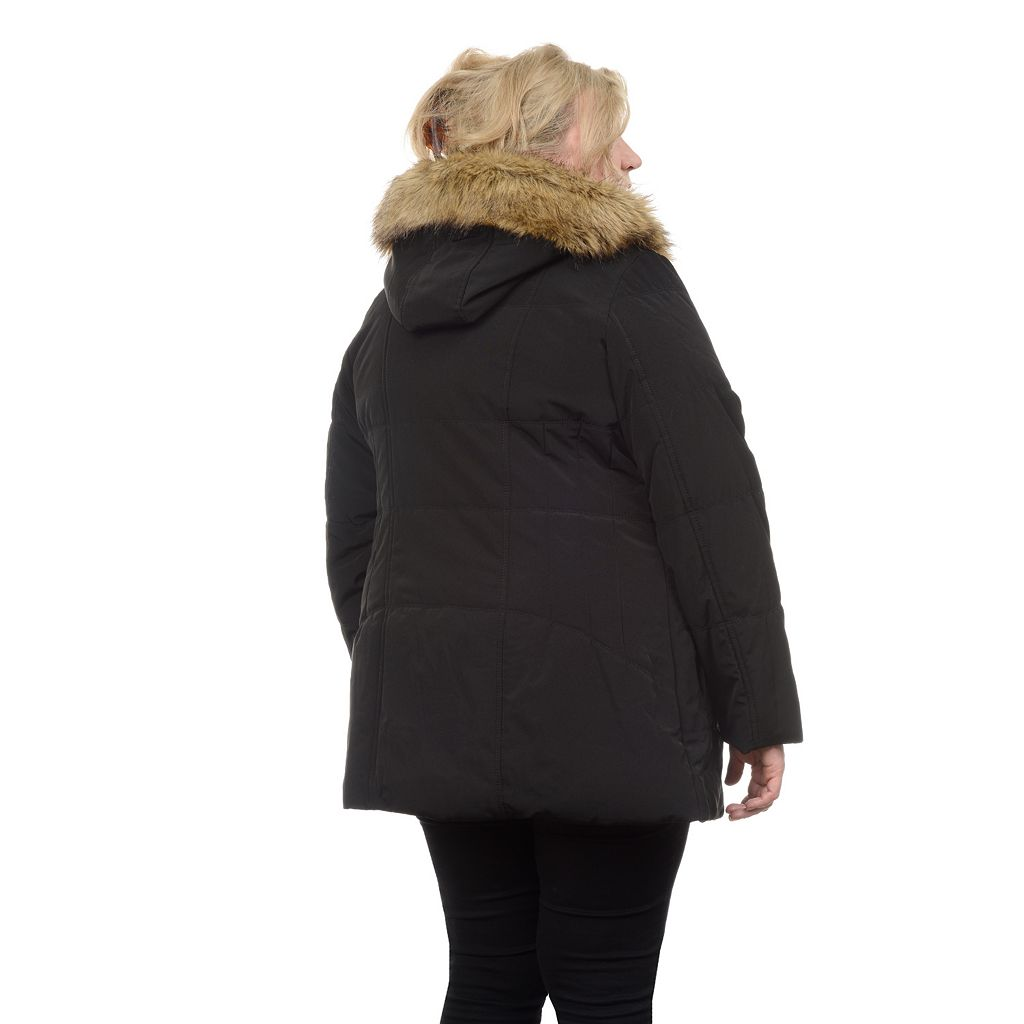 Plus Size Fleet Street Quilted Stadium Jacket