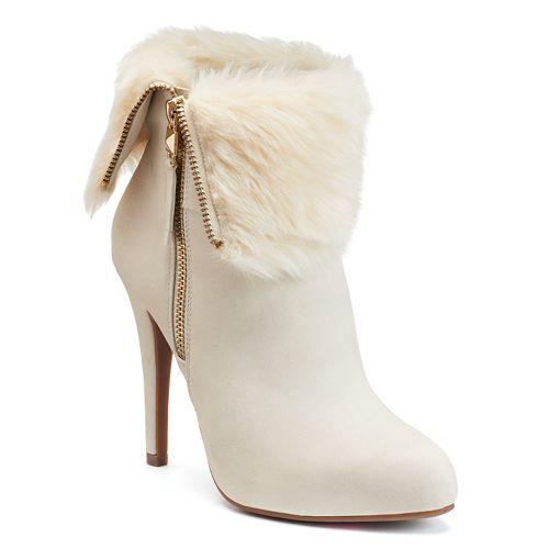 Ankle Boots Lopez High Heel Jennifer Women's Foldover qpwWXT