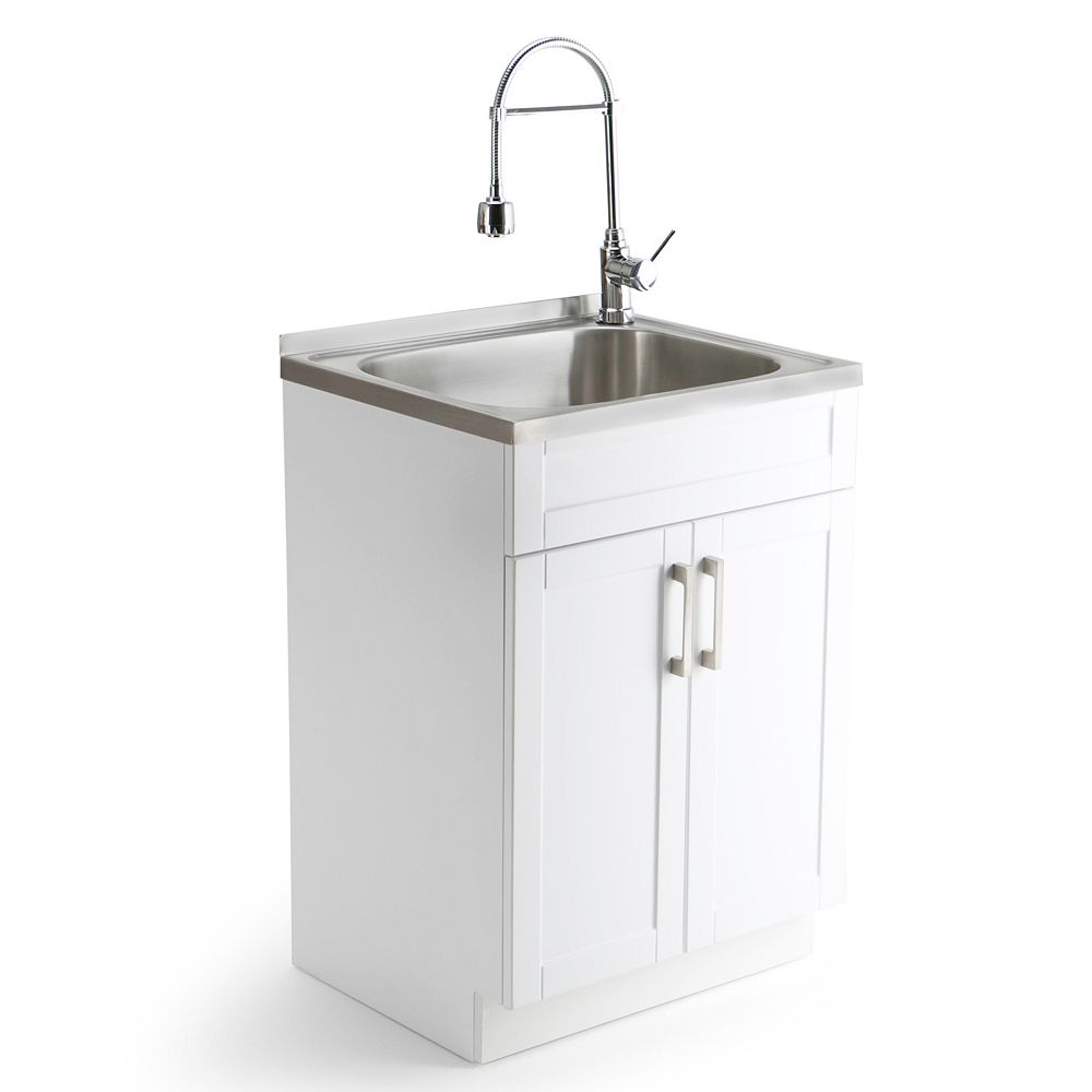 Simpli Home Laundry Sink Cabinet & Faucet