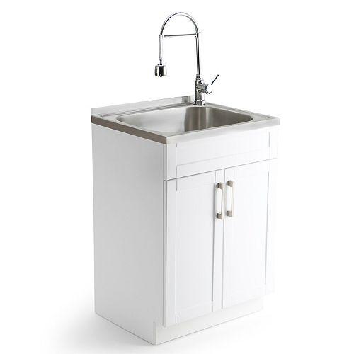 Simpli Home Laundry Sink Cabinet & Faucet