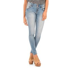 Juniors' Wallflower Stacked Luscious Curvy Skinny Jeans