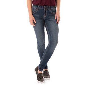 Juniors' Wallflower Whiskered Skinny Jeans