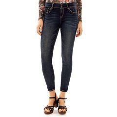 Juniors' Wallflower Faded Ultra Skinny Jeans