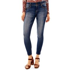 Juniors' Wallflower Faded Ultra Skinny Jeans