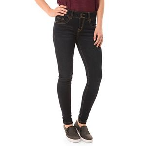 Juniors' Wallflower Faded Super Skinny Jeans