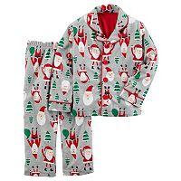 Toddler Boy Carter's Santa Fleece Pajama Set
