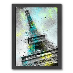 Americanflat City Art Paris Eiffel Tower III Framed Wall Art