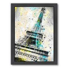 Americanflat City Art Paris Eiffel Tower IV Framed Wall Art