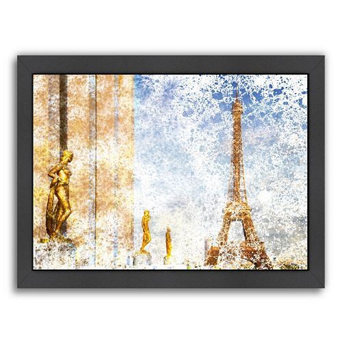 Americanflat City Art Paris Eiffel Tower II Framed Wall Art